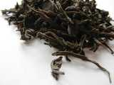 Loose-leaf black tea with very large, wiry leaves